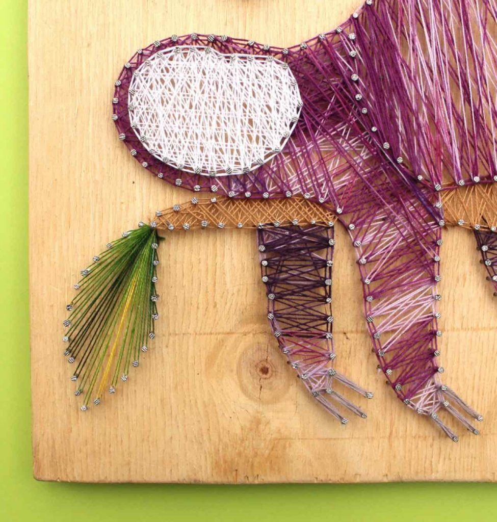 Easy to make string art - Step by step instructions Sloth string art