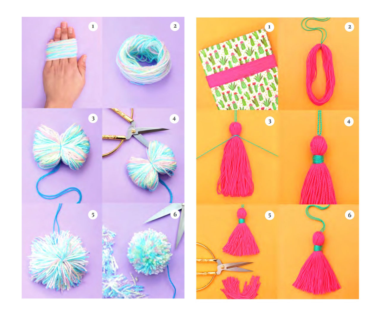 How to make tassels and pom-poms with DIY step-by-step tutorials and photos