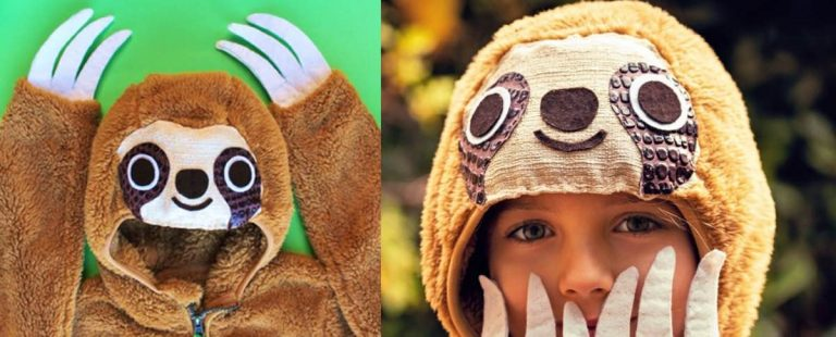 How to make your own DIY sloth costume or outfit