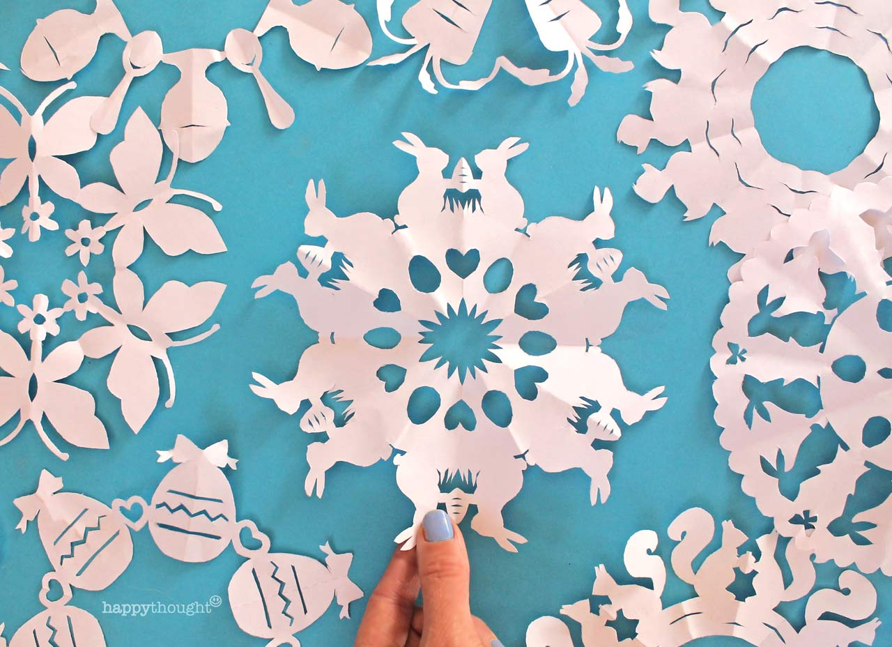 How to make your own Easter Kirigami DIY decorations