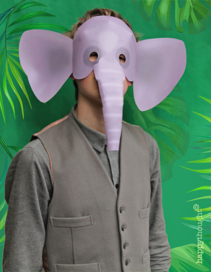 How to make your own paper elephant mask