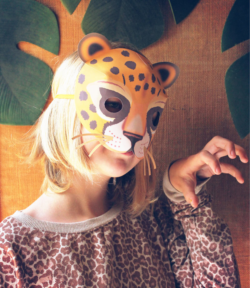 How to make your own paper leopard mask: Instructions and template
