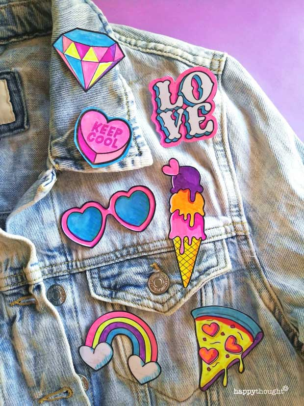 How to make your own pin badges for St Valentine's Day crafts