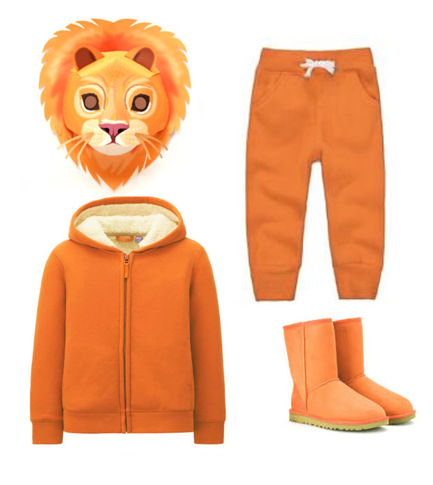 Lion mask and costume idea to dress up for world book day