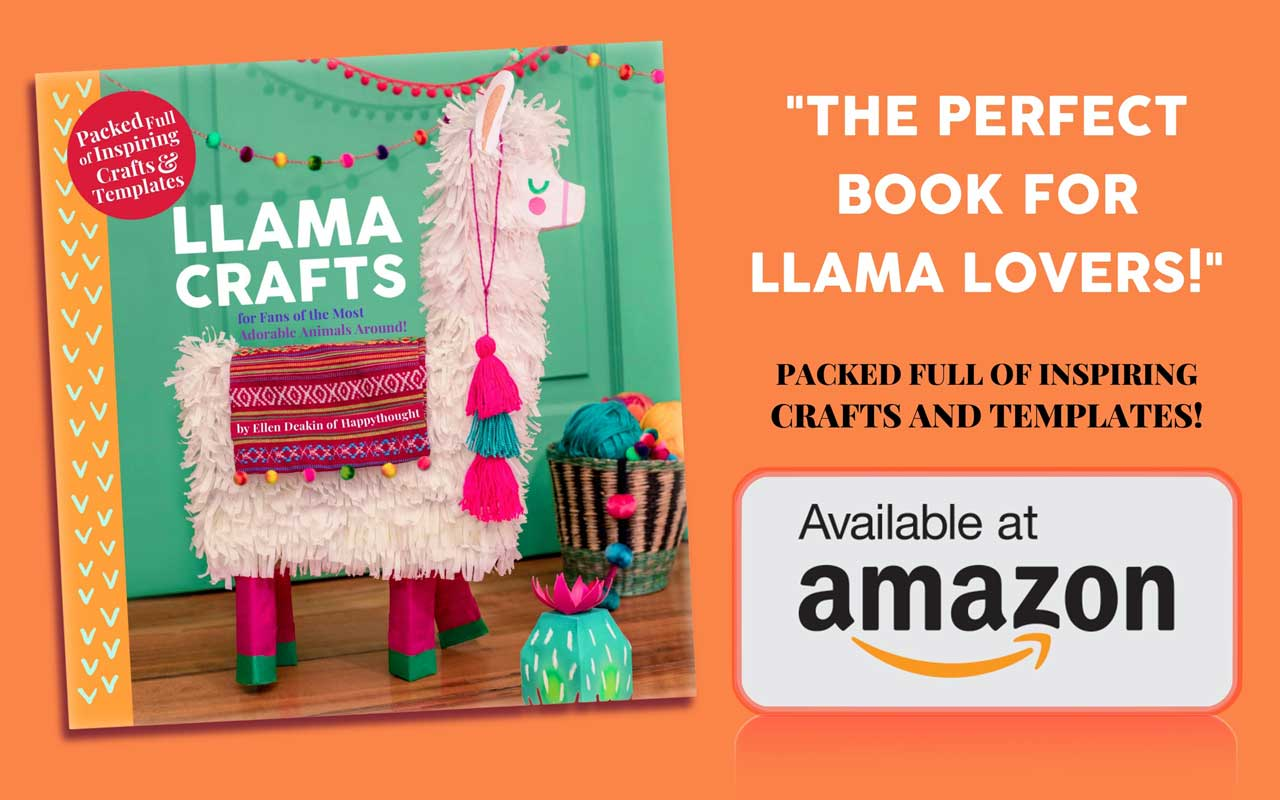 The perfect book for Llama lovers - Packed full of inspiring crafts and templates. Available on Amazon in Hardback or paperback.