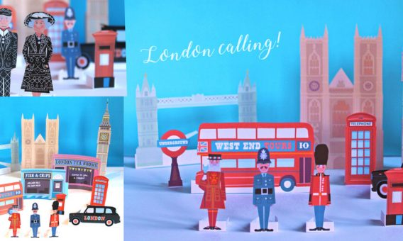London calling papercraft patterns!