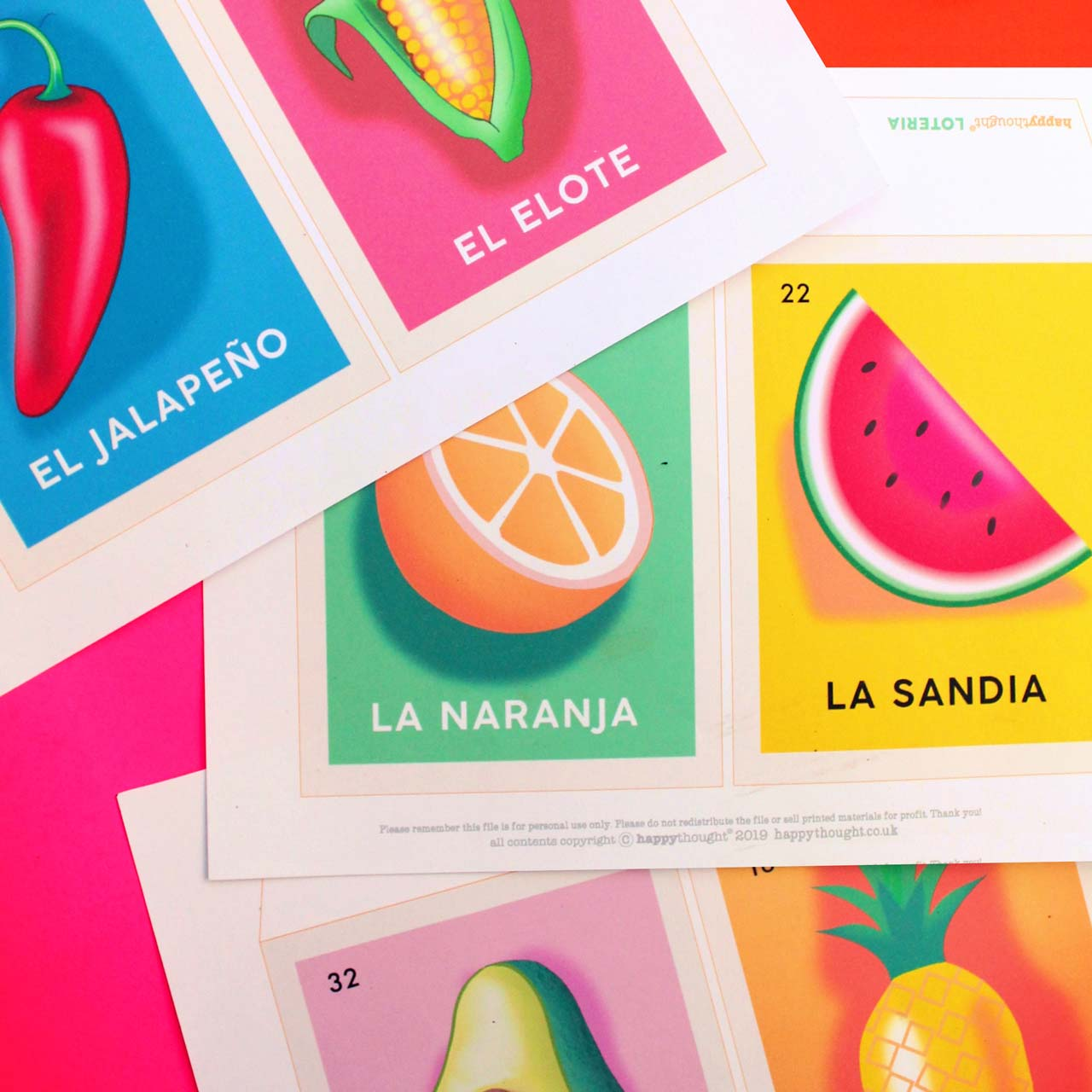Loteria card printables for crafts and activities