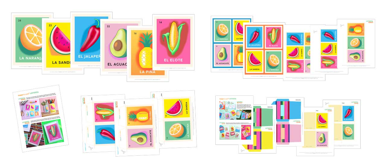Loteria craft DIY printable templates for adults and teachers