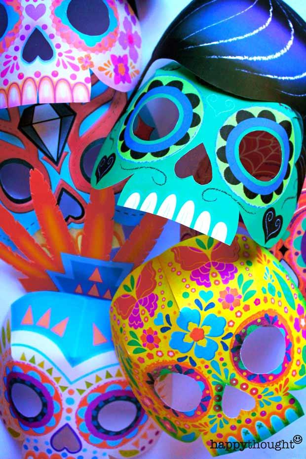 Make your own DIY calvera sugar skull mask for costumes