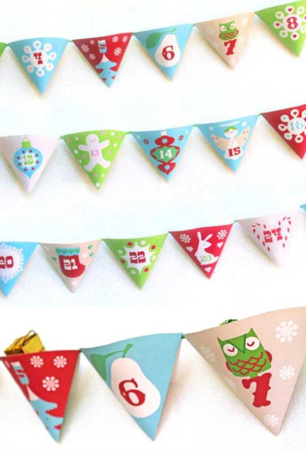 Make your own festive DIY pocket advent calendar