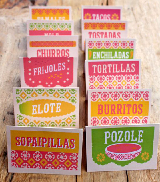 12 simple diy mexican food signs perfect printables for fiestas