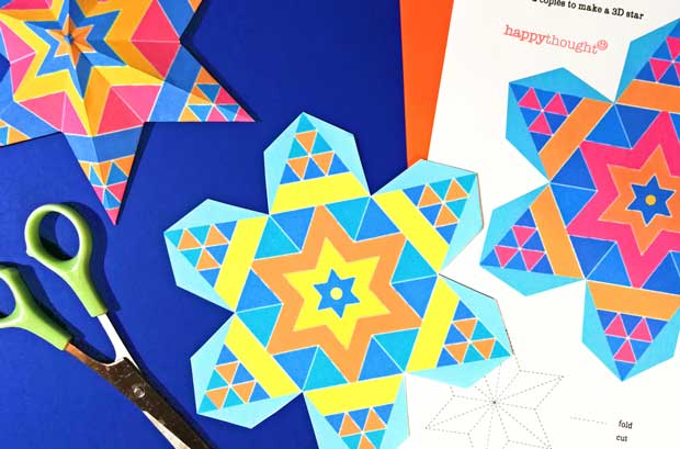 Mexican paper star crafts for DIY art projects