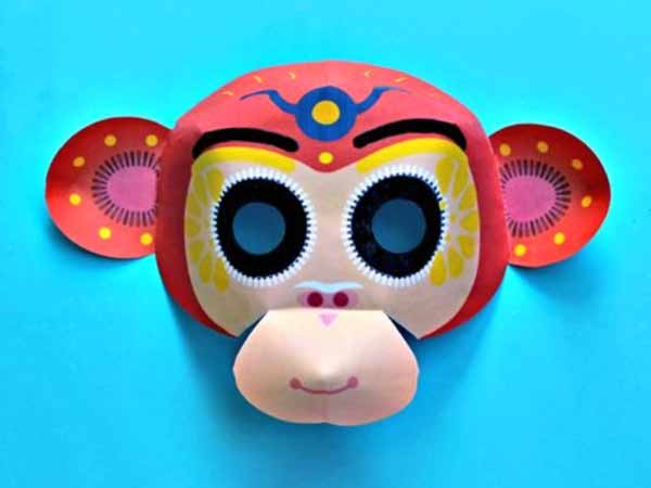 picture regarding Printable Monkey Masks named Chinese Fresh new Yr monkey mask: 2016 12 months of the monkey!