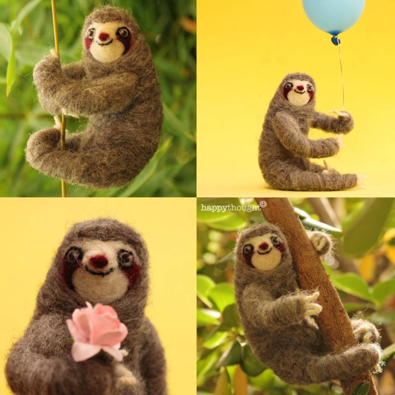 Take it easy and get in touch with your inner sloth. Step-by-step tutorials on making these needle felt sloths