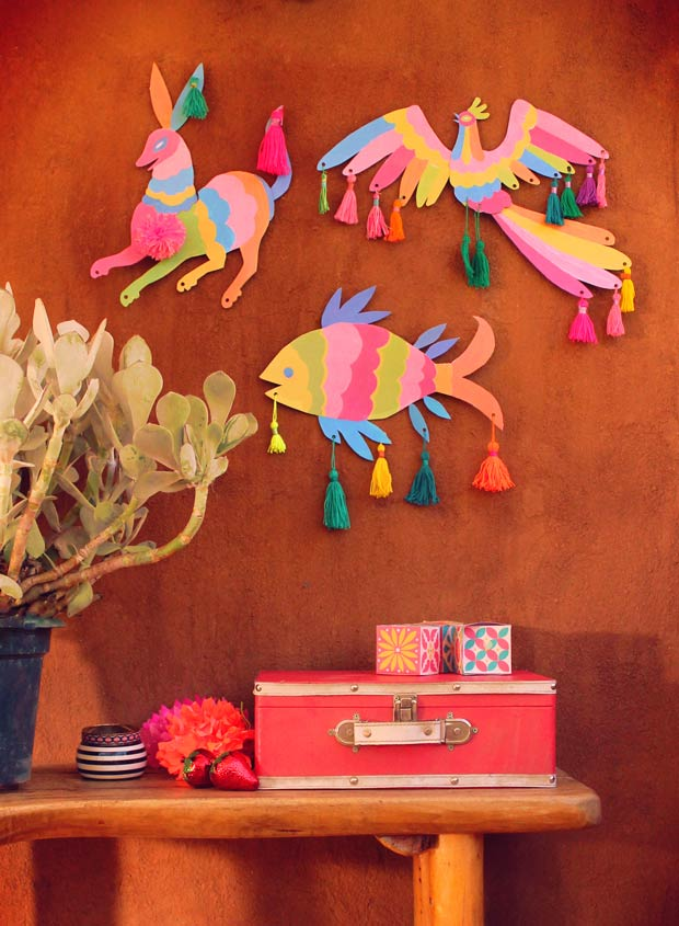 Make your own Otomi inspired animal wall art decorations