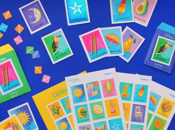 Instant print and play DIY Mexican Loteria game PDF template