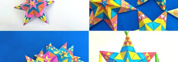 Mexican paper star ornaments