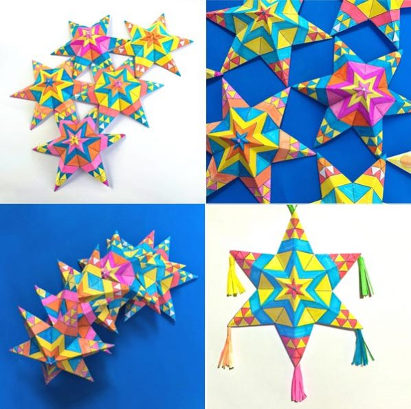 Mexican paper star ornaments