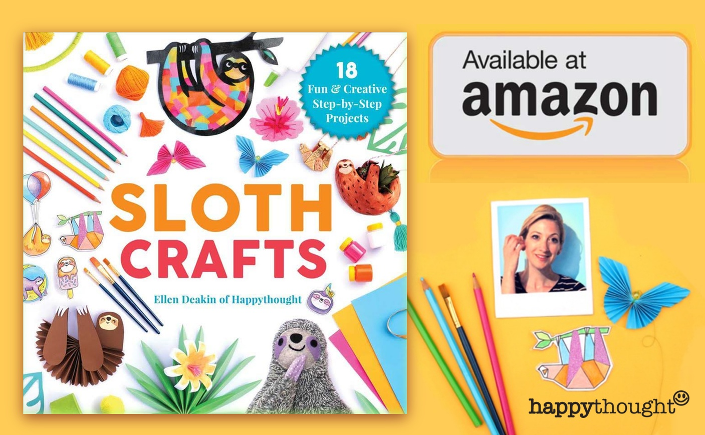 Sloth crafts by Ellen Deakin Happythought - 18 fun and creative step-by-step projects