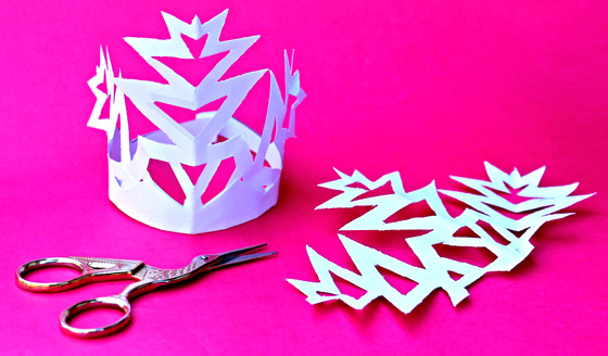 Snowflake crowns paper craft headpieces templates and instructions - Happythought Holiday craft activity pack!