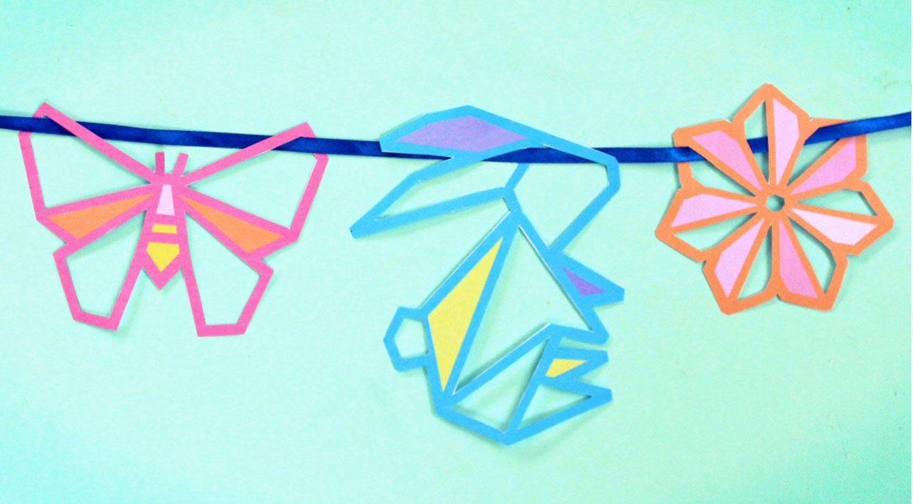 Springtime Sun catcher Easter garland craft activity