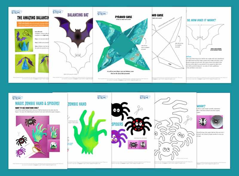 Stem worksheets for halloween