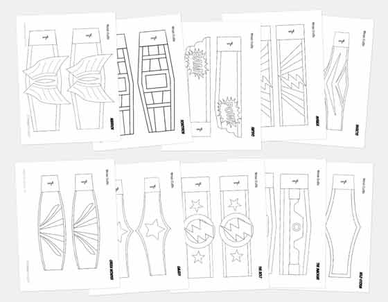 superhero cuuf templates for homemade superhero mask costume masks!