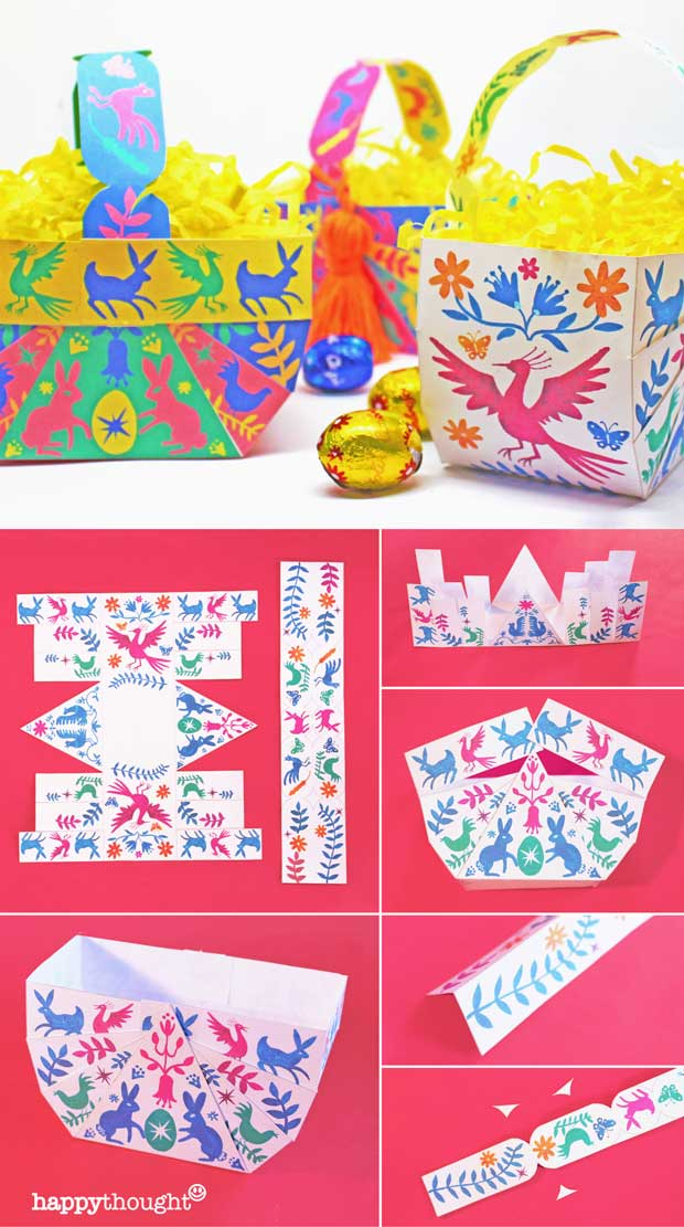 No-sew patterns and instructions on how to make DIY Easter Baskets