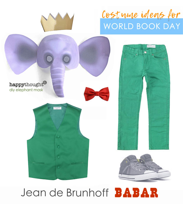 The adventures of Babar easy mask and costume idea