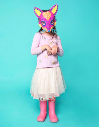 Alebrije papercraft pdf fox mask template to download and make