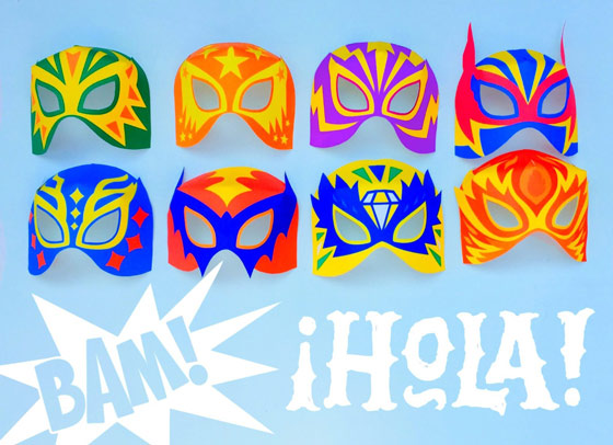 make lucha libre masks afordable no sew mask template easy tutorial