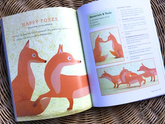Easy projects for kids: Paper craft foxes!