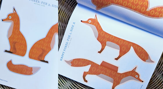 Art ideas for kids: Beautiful paper cut foxes!