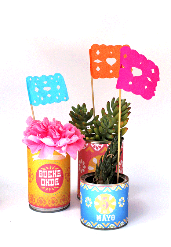DIY papel picado flags!