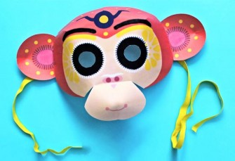 Chinese New Year monkey mask video