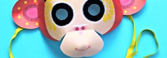 Chinese New Year monkey mask video