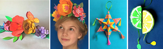 Printable kids activity: Paper flowers. stars, pinatas and papel picado ideas!