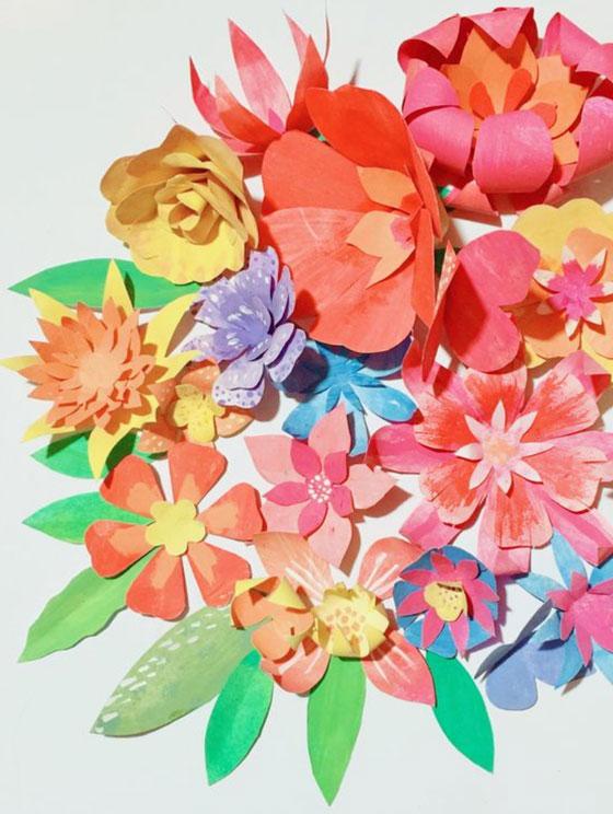 Flores de papel para corona de Cinco de Mayo