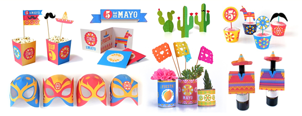 Cinco de Mayo templates for fiestas!