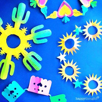DIY cinco de mayo snowflakes templates pattern decorations