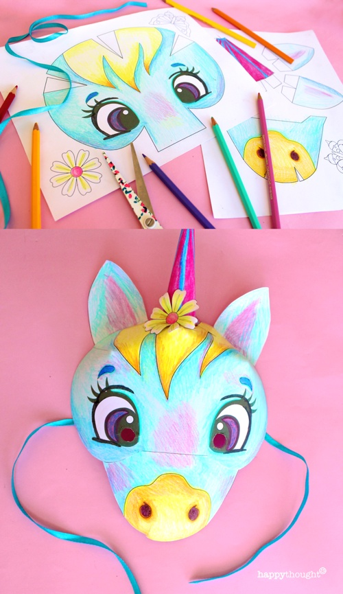 Make your own Unicorn mask!