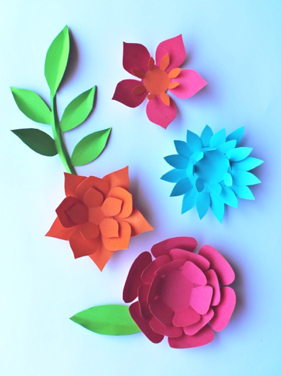 Paper flowers classroom craft activity easy make paper flowers paper flowers classroom craft activity easy make paper flowers leaves mightylinksfo