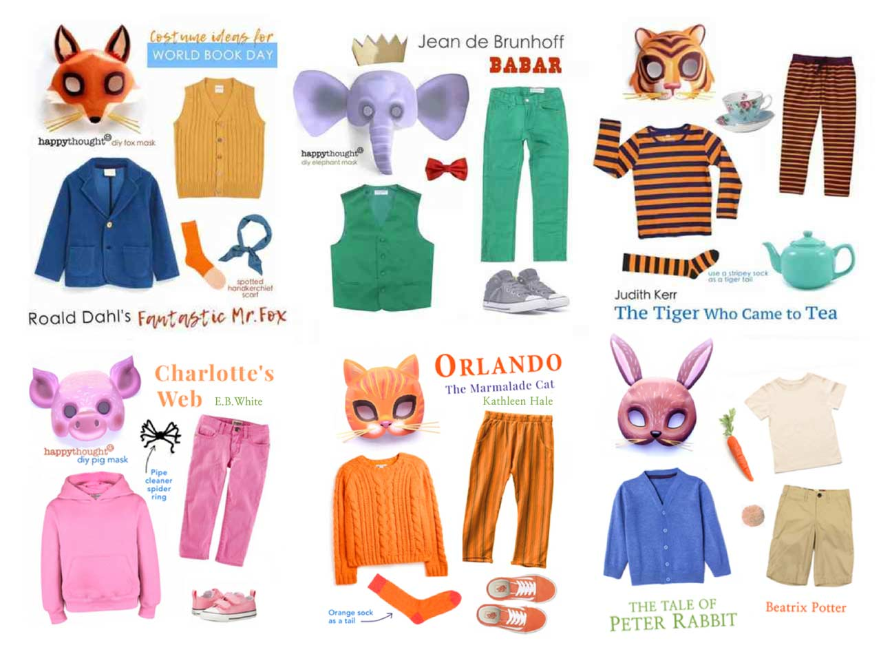 Easy to put together costume ideas for world book day DIY
