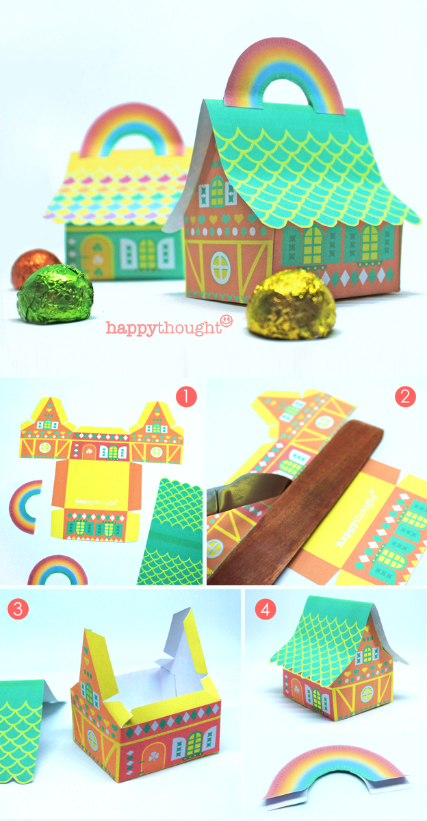 printable favor box and decoration templates for St Patricks Day celebration