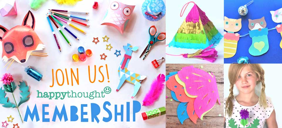 The best crafts, activities and templates for leaning and fun. Membership Happythought