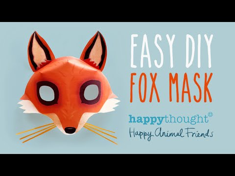 Be a fox in 5 minutes try our free easy fox mask template for Fantastic mr fox mask template