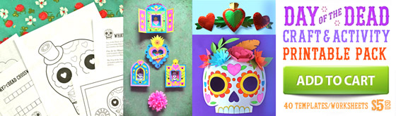 Dia de los Muertos template ideas: 5 activities + 40 PDF templates to download!