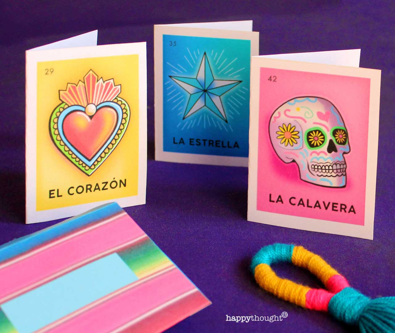 El Dia de los Muertos or Day of the Dead loteria cards