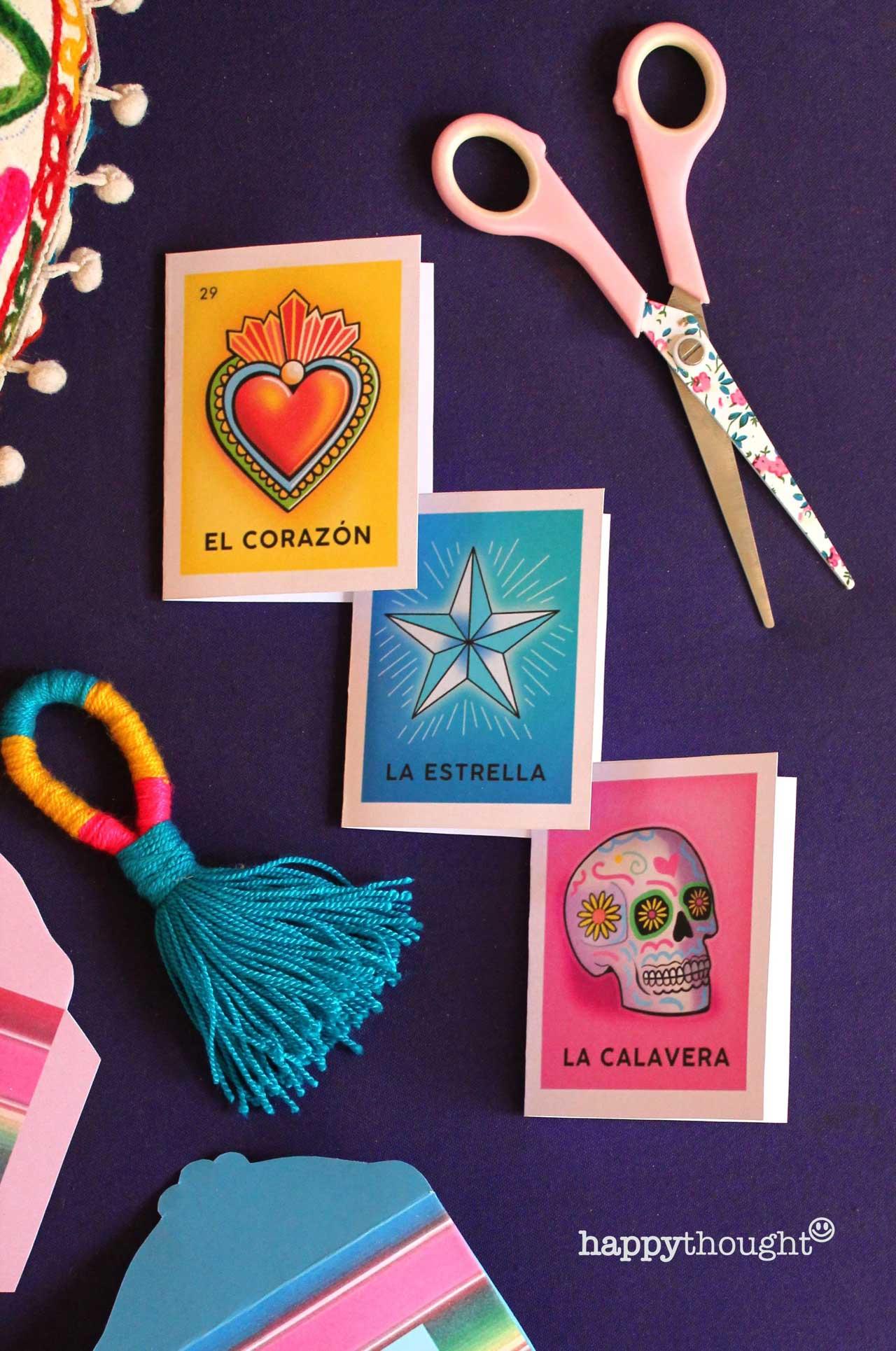 Day of the Dead loteria cards - el dia de loas muertos