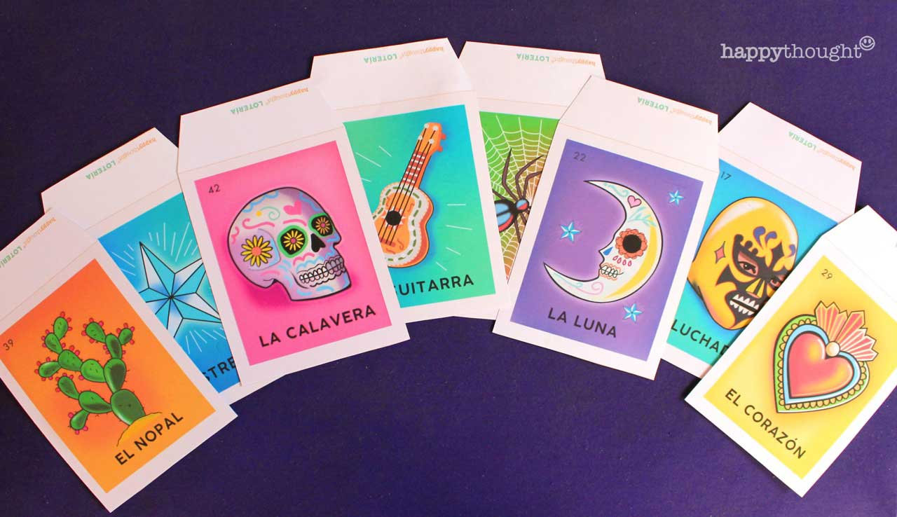 Day of the Dead loteria garland printable pdf